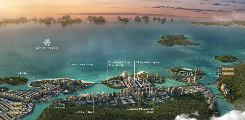 Grand Bay Townhouse sở hữu vị trí đắc địa tại bán đảo 3 Hùng Thắng, Hạ Long