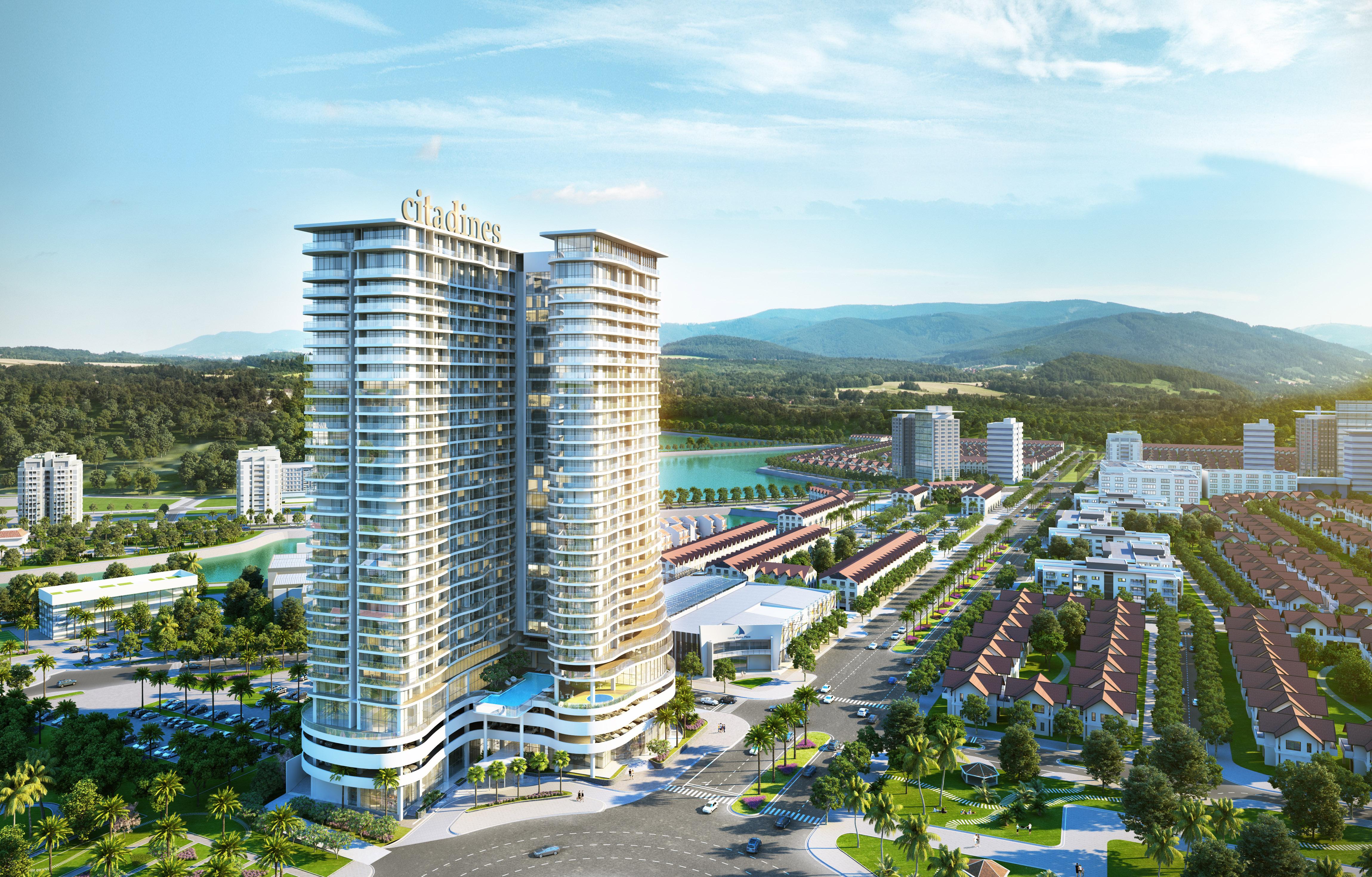 Phối cảnh tổng thể căn hộ Citadines Marina Halong